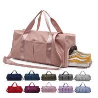 Pink Weekender Sports Women Yoga Travel Duffle Bag
